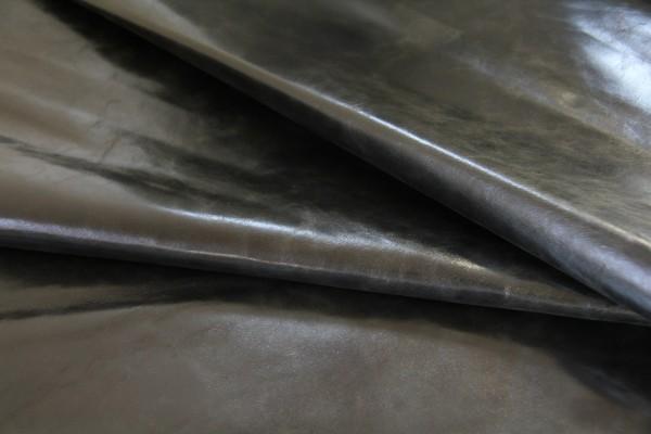 Ziegen - Futterleder (schwarz lackiert / 0,7 - 0,9 mm) 0,49 m²