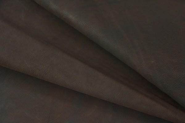 Ziegen Futterleder (dunkel braun / 1,4 - 1,6 mm) 0,42 m²