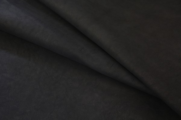 Ziegen - Futterleder (Schwarz matt / 1,2 - 1,5 mm) 0,37 m²