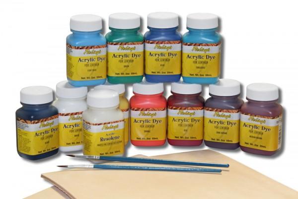 Lederfarbe / Fiebing`s Acrylic Dye Pack