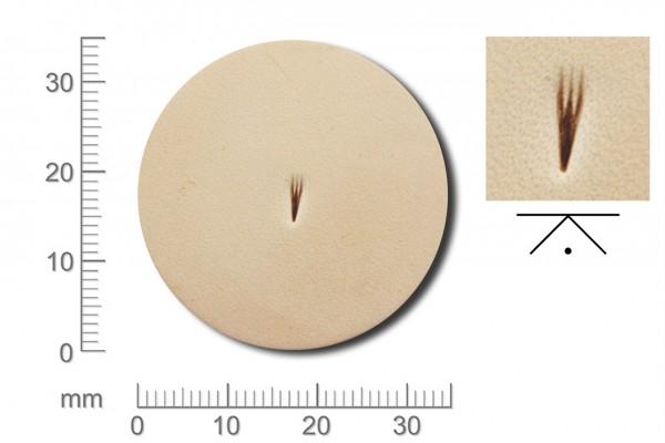 Rickert - Punziereisen / Prägewerkzeug R001 ( 2d-04 )
