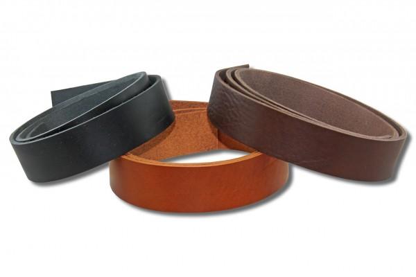 Lederstreifen / Gürtelstreifen / Lederriemen - farbig