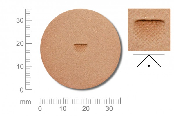 Rickert - Punziereisen / Prägewerkzeug B702-F ( 2a-15 )