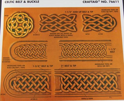 "Craftaid / Schablone ""Celtic belt & buckle"""