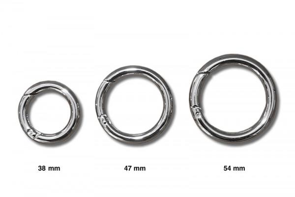 Ringkarabiner, O-Ring mit Schnappverschluss
