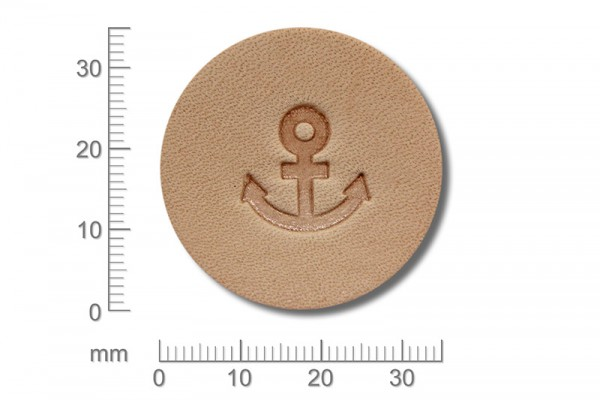 Punziereisen / Prägewerkzeug / Lederstempel E591 ( D III-19 )