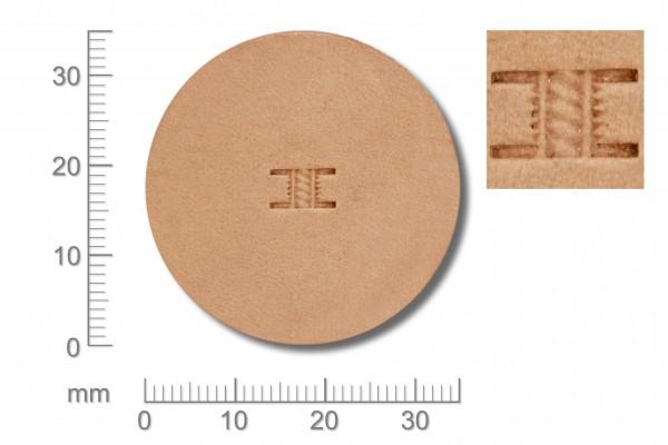 Punziereisen / Prägewerkzeug / Lederstempel X502-2 ( D I-03 )