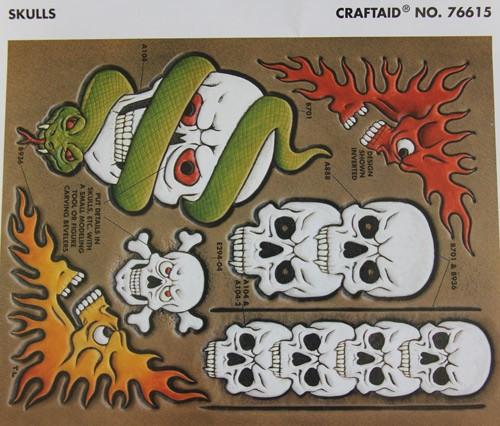"""Craftaid / Schablone """"skulls"""""""