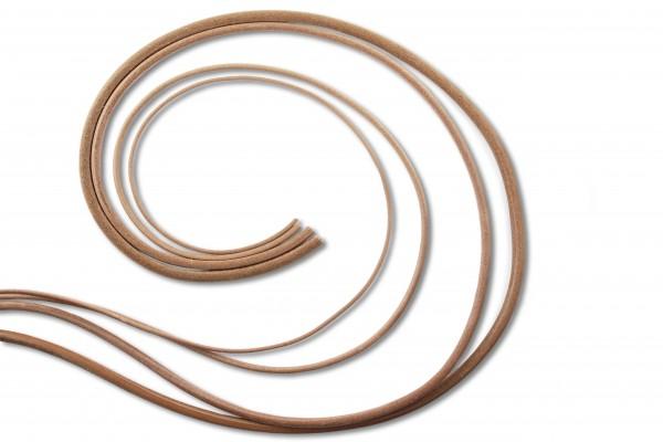 Kernleder - Rundriemen natur (2,5 - 8,0 mm)