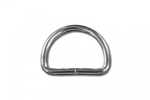 D - Ring Stahl vernickelt