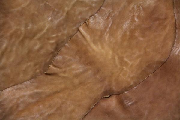 Ziegen - Futterleder (braun polish calf / 1,1- 1,3 mm) 0,43 m²