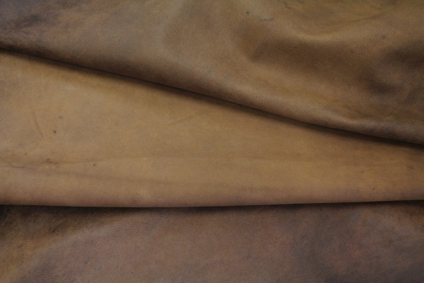 Ziegen Futterleder (antik braun / 0,9 - 1,1 mm) 0,4 m²