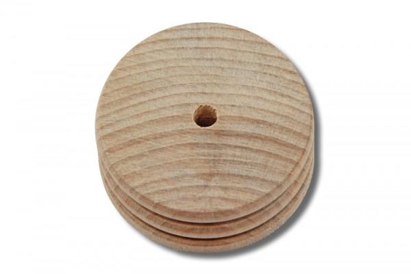 Kantenpolierscheibe / Kantenglätter aus Holz (2-fach)
