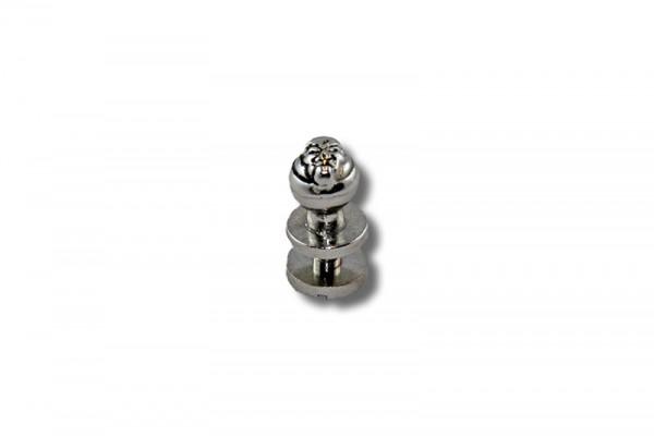 IV Beiltaschenknopf / Kopfschraubnieten 7 mm, Skull