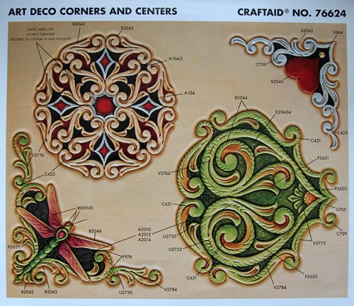 "Craftaid / Schablone ""Art Deco Corners and Centers"""