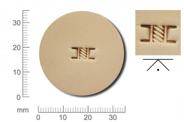 Rickert - Punziereisen / Prägewerkzeug X501 ( 2c-16 )
