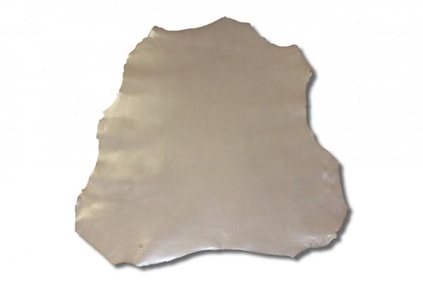 Chevreaux / Ziegen - Futterleder (grau lackiert / 0,6 - 0,8 mm) 0,35 m²
