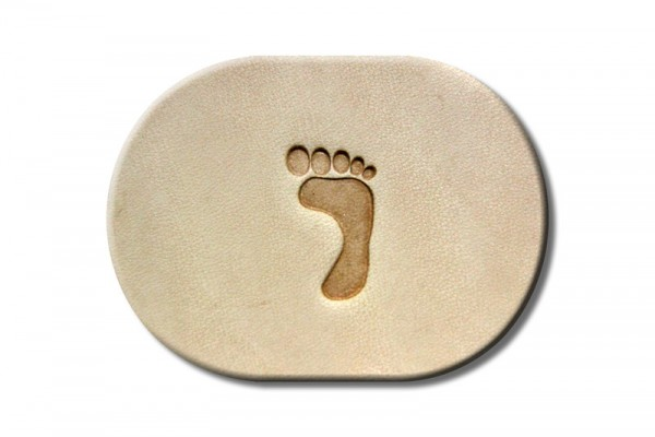 """Punzieraufsatz / Lederstempel """"Fuß rechts klein"""""""