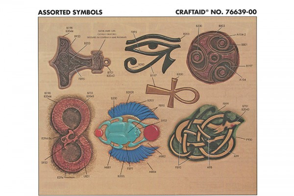 "Craftaid / Schablone ""Assorted Symbols"""