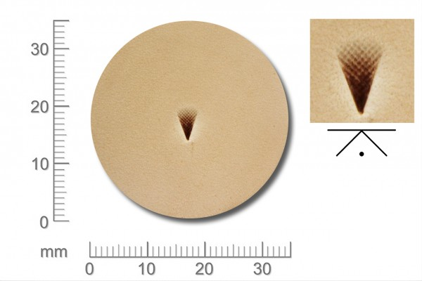 Rickert - Punziereisen / Prägewerkzeug F976 ( 2d-15 )
