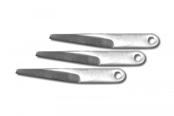 Ersatzklingen für Profi Industrie Ledermesser, gerade (3 Stück)