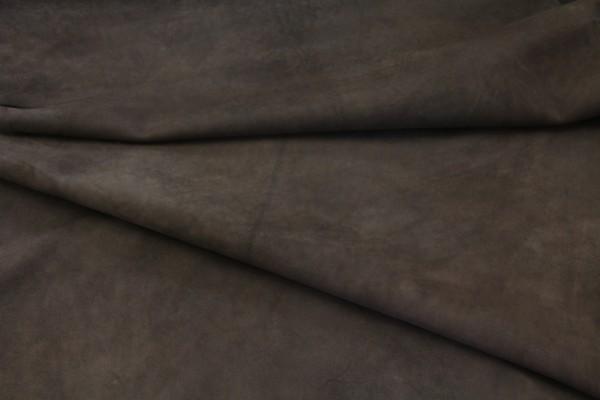 Ziegen - Futterleder (dunkelbraun matt / 0,8 - 1,0 mm) 0,68 m²