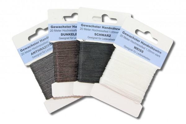 Polyester Ledergarn - Heft (20 m, rund, Ø 1,0 mm)