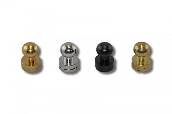 IV Beiltaschenknopf / Kopfschraubnieten 7 mm