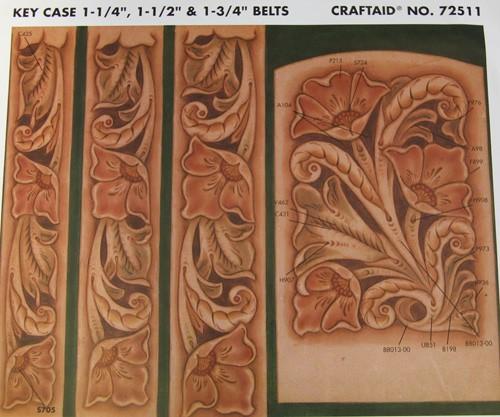 """Craftaid / Schablone """"key case"""" ( 1-1/4"""", 1-1/2"""", 1-3/4"""" belts)"""
