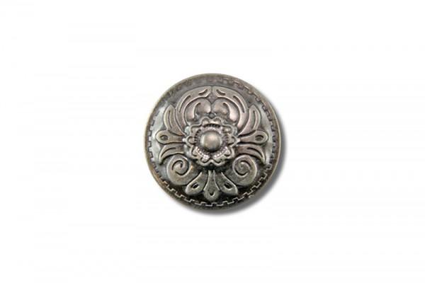 Concho aus Stahlblech, Floral V