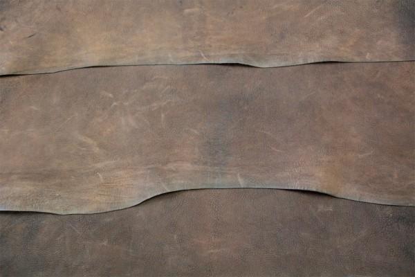 Ziegen - Futterleder (dunkelbraun / 1,0 - 1,2 mm) 0,55 m²