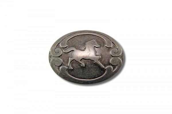Concho aus Stahlblech, Pferd