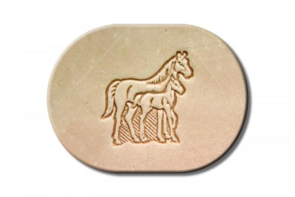 """Punzieraufsatz / Lederstempel """"Pferd und Pony"""""""