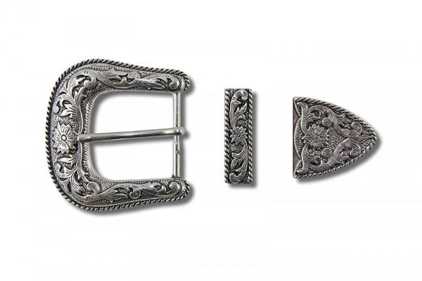 Gürtelschnallen Set, Viktorianisch Antik Silber