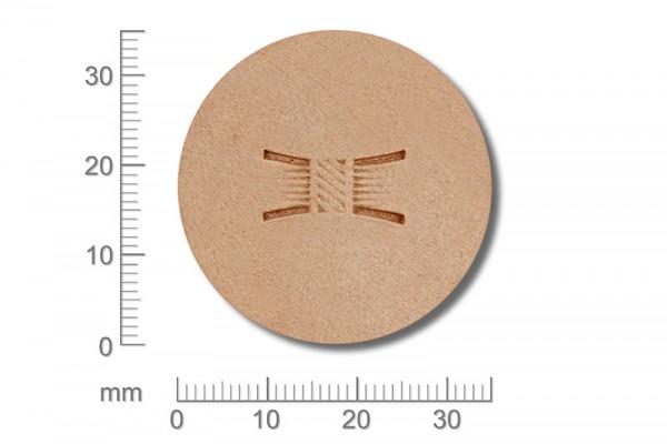 Punziereisen / Prägewerkzeug / Lederstempel X514S ( D II-04 )