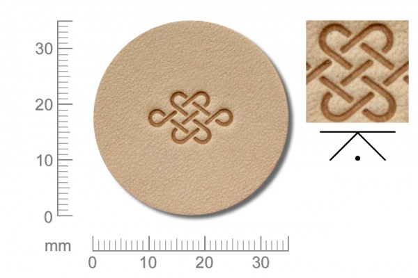 Rickert - Punziereisen / Prägewerkzeug O005 ( 2b-04 )