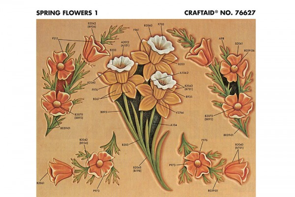 """Craftaid / Schablone """"Spring Flowers 1"""""""