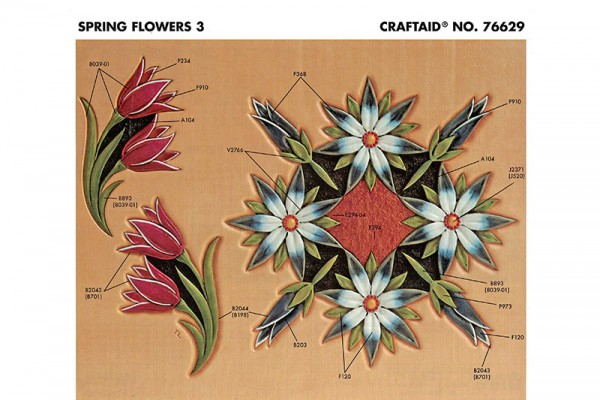 """Schablone /"""" Flowers3 /"""" auf A4"""
