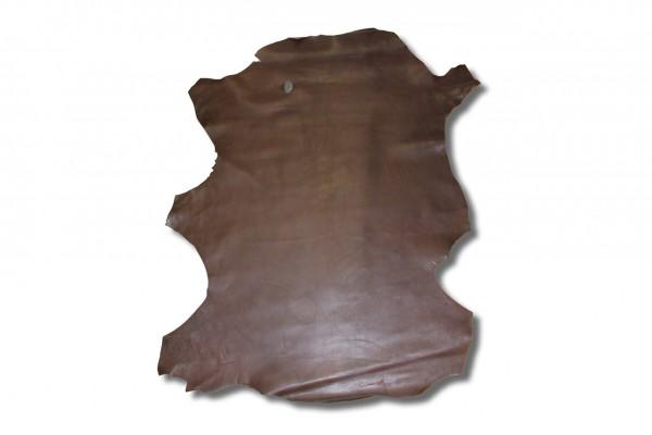 Ziegen - Futterleder Nappa (kastanienbraun / 0,7 - 0,9 mm) 0,35 m²
