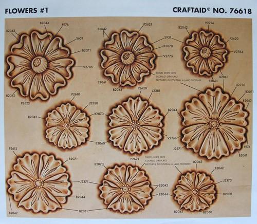 """Craftaid / Schablone """"Flowers #1"""""""
