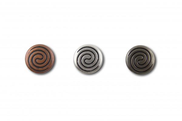 "Druckknopf ""Celtic Double Spiral"" 10 St. (Line 24 / Ø 15,5mm)"