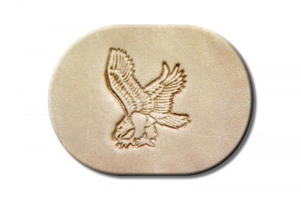 "Punzieraufsatz / Lederstempel ""Adler jagend links"""