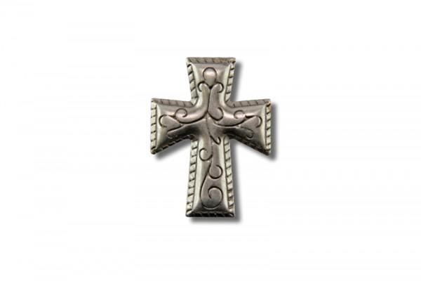 Concho aus Stahlblech, Kreuz IV