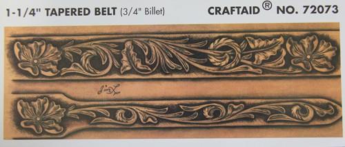 """Craftaid / Schablone """"1-1/4"""" tapered belt"""" ( 3/4"""" Billet )"""