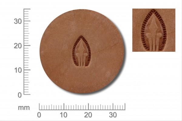 Punziereisen / Prägewerkzeug / Lederstempel G529 ( D II-17 )