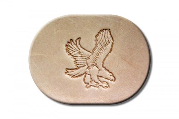 "Punzieraufsatz / Lederstempel ""Adler jagend rechts"""