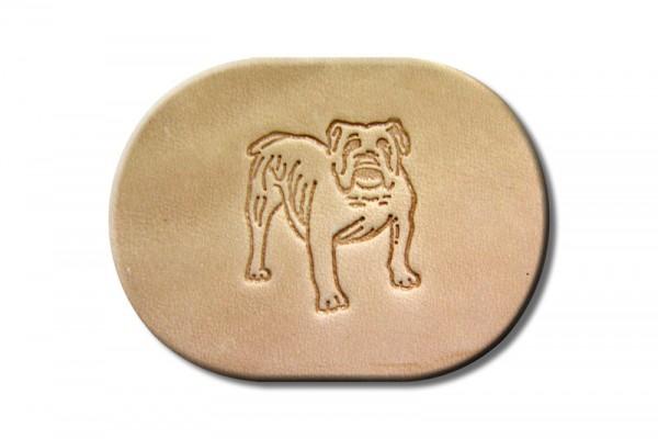 "Punzieraufsatz / Lederstempel ""Bulldogge"""