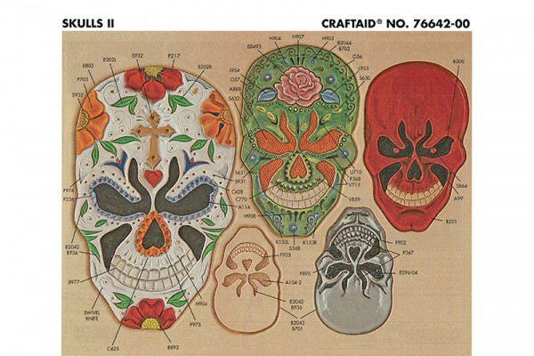 "Craftaid / Schablone ""Skulls II"""