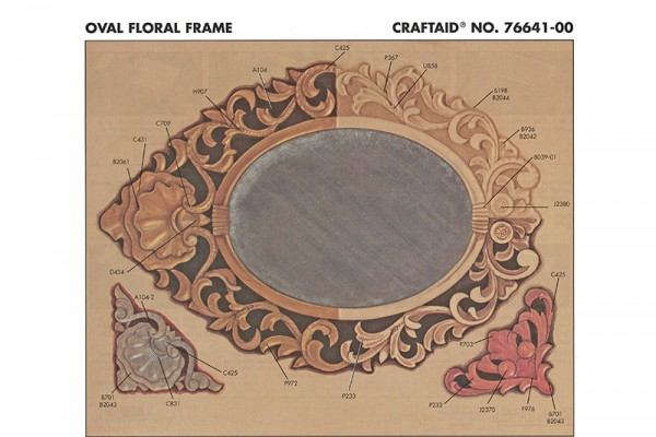 "Craftaid / Schablone ""Oval Floral Frame"""