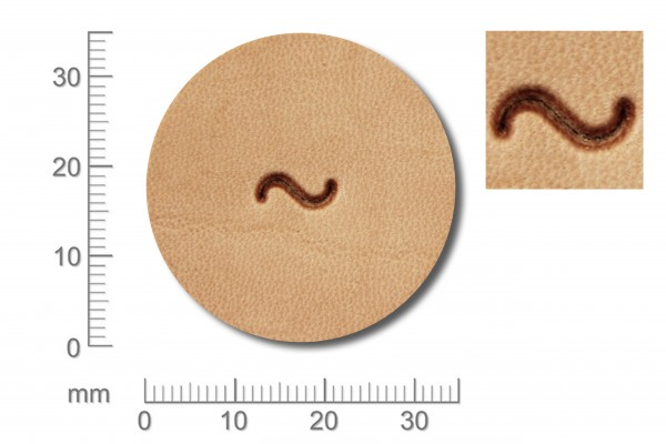 Punziereisen / Prägewerkzeug / Lederstempel R875 ( D IV-08 )